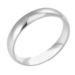 Womens Stainless Steel Polished Ring